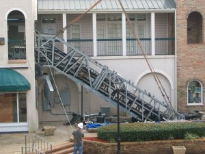 Escalator at Tulane Family Health Center