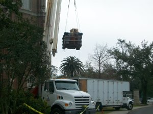 Moving By Crane at Tulane