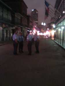 NOPD on Bourbon Street