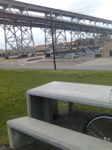Picnic Table at Huey P. Long Bridge