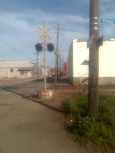 Railroad Crossing at Royal and Press