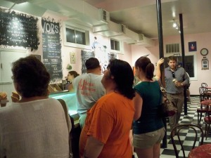 A Long Line For Ice Cream at the Creole Creamery