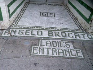 Sidewalk Tiles at 615 Ursulines