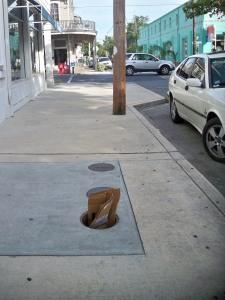 Open Manhole at Magazine and Ninth