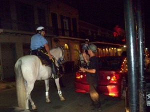 NOPD Mounted Police On Decatur