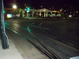 Streetcar Tracks at Lee Circle