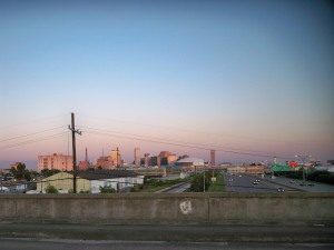 New Orleans Skyline From the S. Jefferson Davis Parkway Pedestrian Bridge