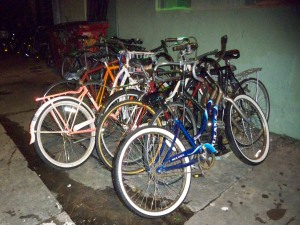 Bikes at the Saint in the Lower Garden District