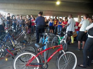 Loyola Bike Auction at the Freret Street Garage