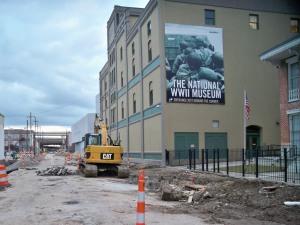 Magazine Street Constructionat the WWII Museum