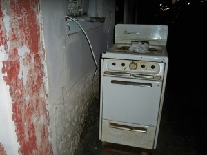Old Stove at Dauphine and St. Philip