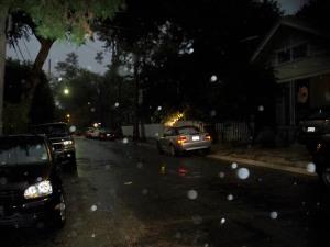 Rainy Uptown Street