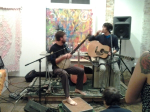Her Fantastic Cats Performing at Bearings Bicycle Project on Greenmount & 26th