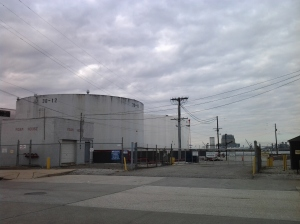 Petroleum Tanks and a Foam House at Eastbourne & S. Clinton