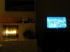 Watching the Game in a Waverly Living Room