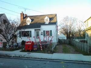 Christmas Decorations in a Yard on Poplar & Highview in Arbutus