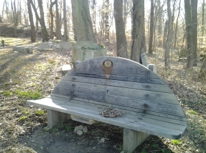 Public Places, Sacred Spaces Bench in Druid Hill Park Behind Clipper Park Road