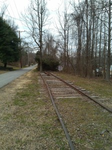 Old Railroad Tracks Along the B&A Trail Near the Earleigh Heights Ranger Station
