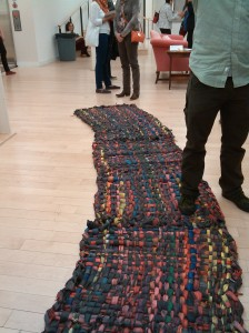 Bicycle Tube Carpet at MICA Graduate Studio Center at Maryland & North
