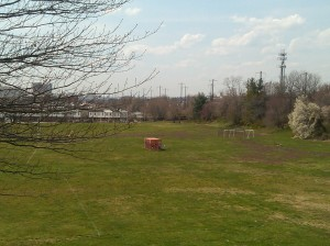 Storage Container in the Field at Frank C. Bocek Park at Edison Highway & E. Madison