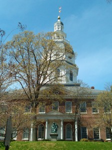 Roger Taney Statue in Front of the Statehouse in Annapolis