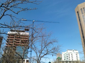 Cranes in the Sky in Downtown Boise