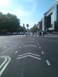 Bike Lanes Down Pennsylvania Avenue in DC at 5th