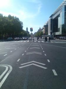Bike Lanes Down Pennsylvania Avenue in DC at 5th