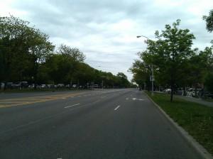 An Empty Ocean Parkway Near Avenue N