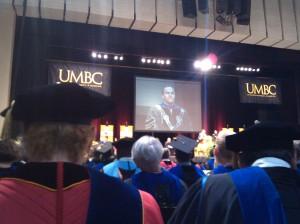 President Hrabowski Speaking at UMBC's Graduation at the Mariner Center