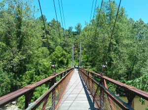 Pedestrian Bridge in Patapsco State Park in Ellicott City