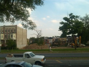 Remains of a Demolished Building at Druid Park Lake Drive & Brookfield