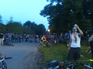 Cyclists Resting at Patterson Park