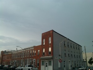Row Houses and Gray Skies at Light & Barney