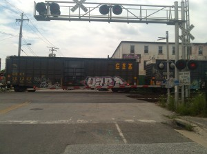 Train Crossing at Warner & W. Ostend