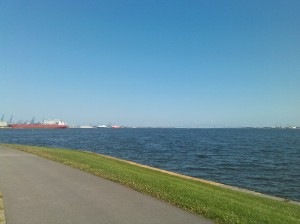 View From the Fort McHenry Bike Path in Locust Point