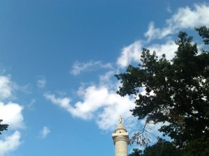 Looking Up From Mount Vernon Square