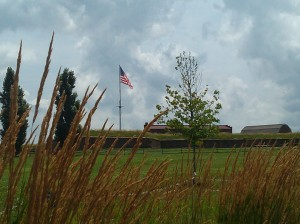 The Star Spangled Banner in the Distance at Fort McHenry