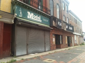 Empty Storefronts in Baltimore's Old Town Mall at Gay & Orleans