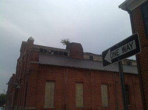 Gray Skies and a Blighted Building at Lloyd & Granby