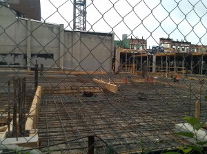 Preparing to Pour Cement at Bethel & Fleet