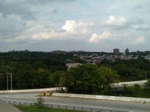 View of Baltimore Looking East From Druid Hill Park Reservoir