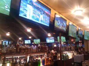 Alcohol and Televisions at David's 1st & 10 Sports Bar at 36th & Falls Road