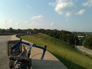 Taking a Break on a Loop Around the Druid Hill Park Reservoir Bike/Ped Path