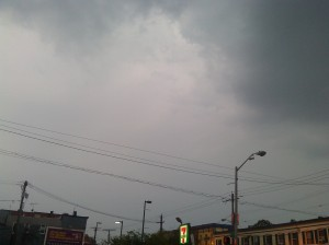 Cloudy Skies at the Corner of 36th & Falls Road in Hampden
