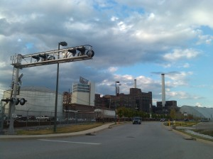 View of the Under Armour Plant at Key Highway E.