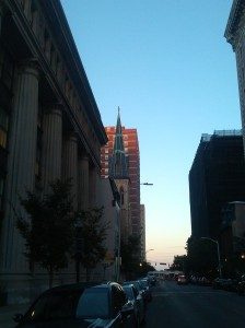 View Up the Block From the Northeast Corner of Charles & Chase