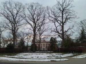 Mansion Behind Gates at Greenway & Charlcote Place