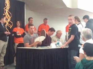Getting Autographs at Orioles FanFest at the Baltimore Convention Center