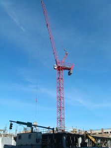 Crane in the Sky at Fleet and S. Central